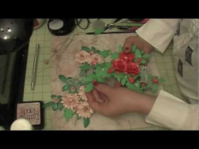 Handmade Paper flower spray for layout