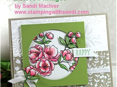 How to add depth to your Stampin Up Blendabilities Colored images