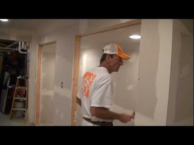 How to Finish Drywall (Prepping drywall for Joint compound)