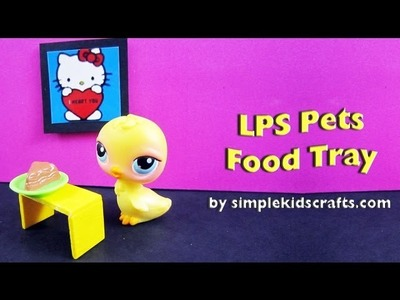How to make a balsa wood (woodsies) food tray for dolls or lps - EP