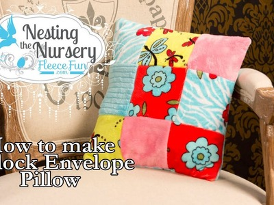 How to make a block pillow: Nesting the Nursery