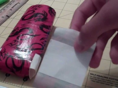 HOW TO MAKE A fLIP IPOD CASE MADE FROM DUCT TAPE