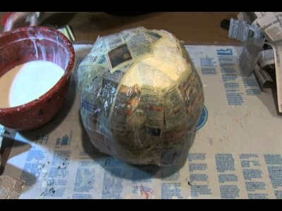 How to make a paper mache pumpkin