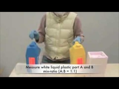 How to make a simple mold with Alginate and cast liquid plastic