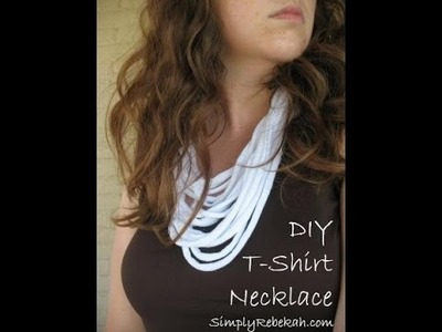 How To Make A T-Shirt Necklace