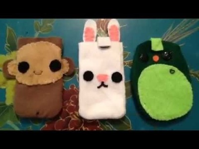 How to make Animal Felt Phone Cases (PIGS)