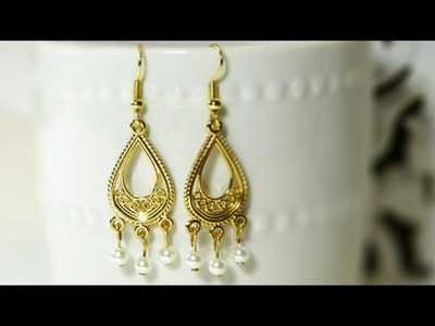 How to Make Easy Chandelier Earrings