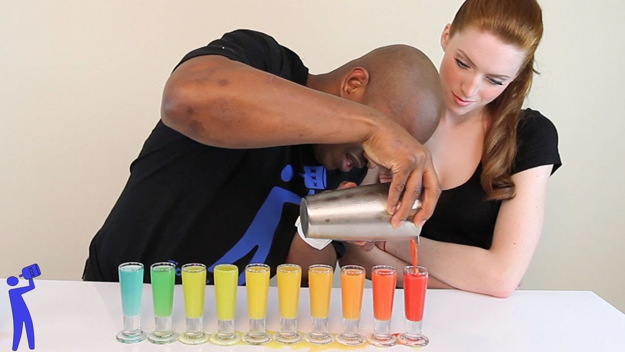 How to make Rainbow Shots! - Tipsy Bartender