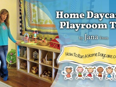 How to run a home daycare: Playroom Tour (Starting a home daycare)