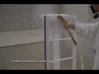 How to spray a window sash