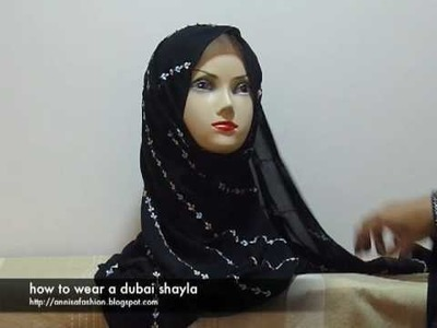 How to wear a dubai shayla