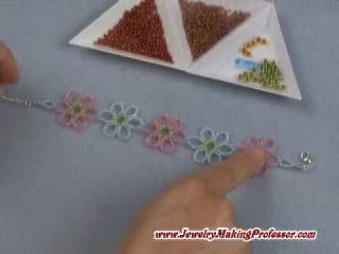 Jewelry Making: Cosmos Flower Bracelet