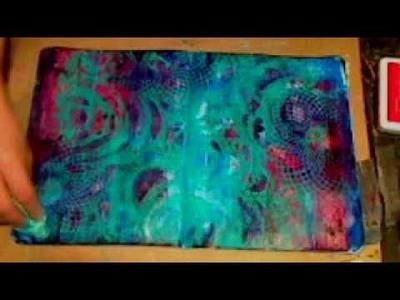 JournalArtista LIVE: Stencil Saturday Art Journal Background