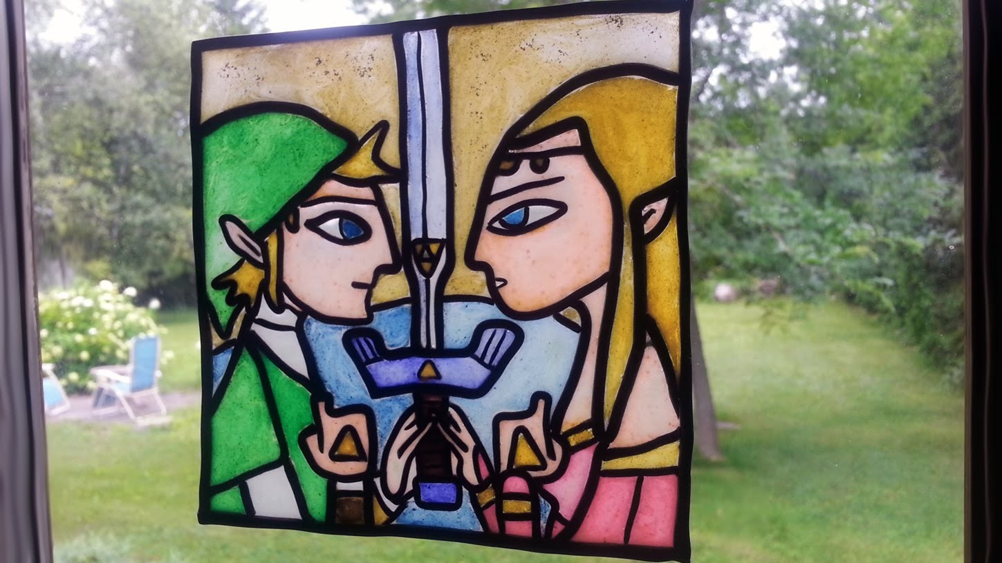 Legend of Zelda Fake Glass Painting Polymer Clay Tutorial Collab SweetAmbsCookies