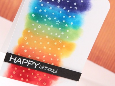 Make a Card Monday #240 - Rainbow Stars Happy Birthday