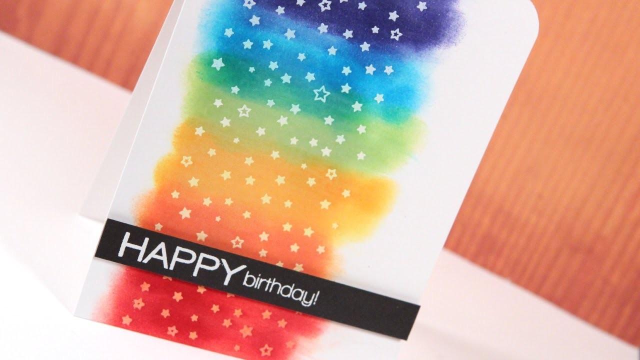 Make a Card Monday #240 - Rainbow Stars Happy Birthday