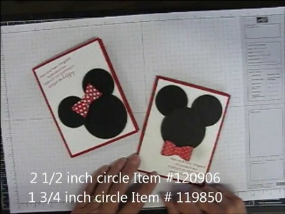 Mickey Mouse and Minnie Mouse with bow tutorial
