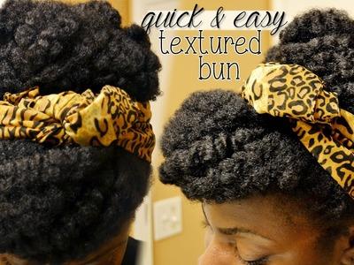 Natural Hair: Quick & Easy Textured Bun