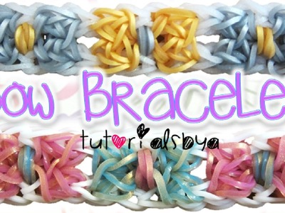 NEW Bow Bracelet Rainbow Loom Tutorial | How To