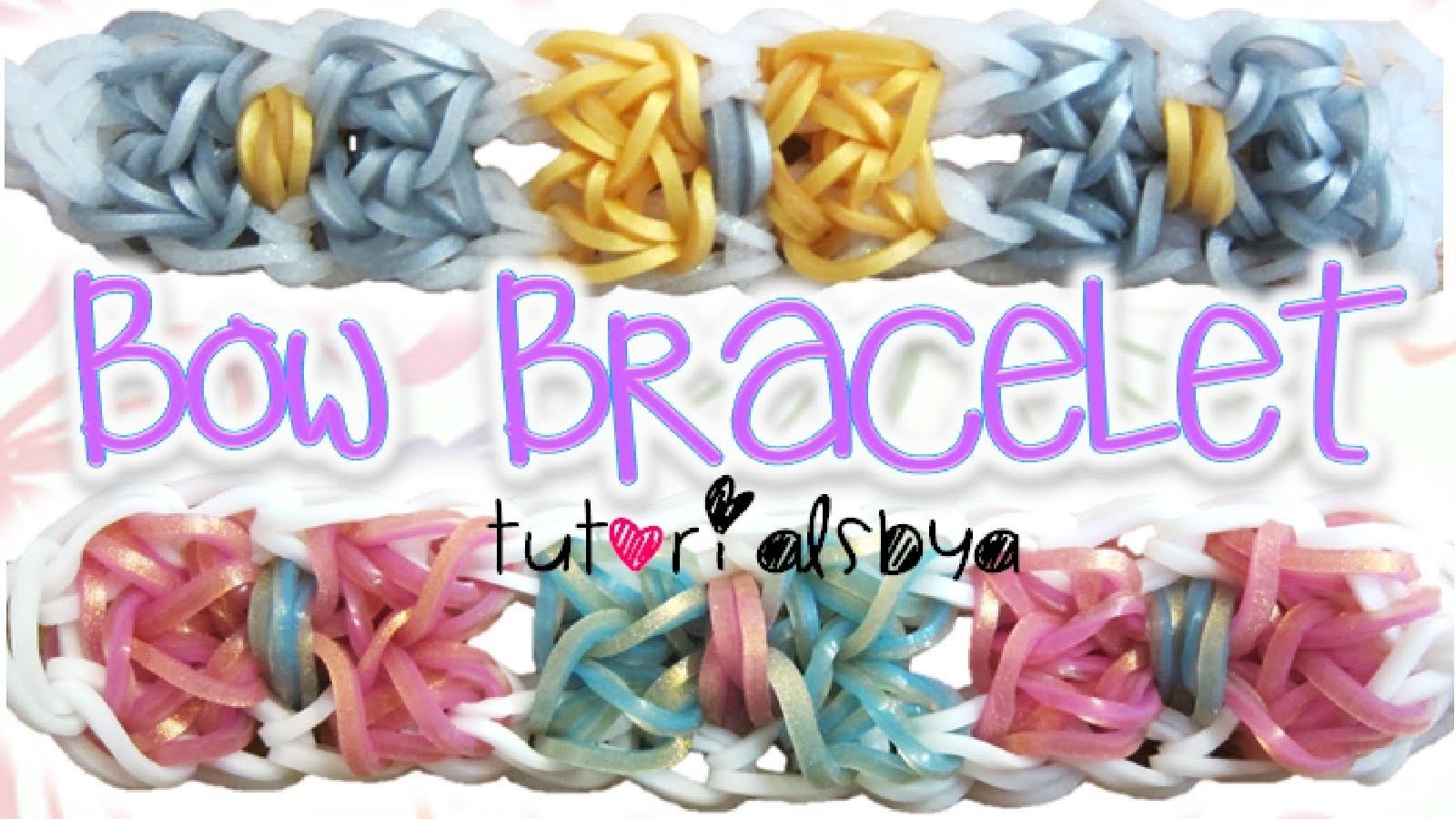 NEW Bow Bracelet Rainbow Loom Tutorial | How To