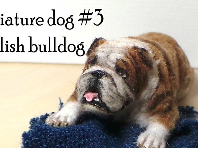 Polymer Clay Tutorial; Miniature Dog #3; English Bulldog