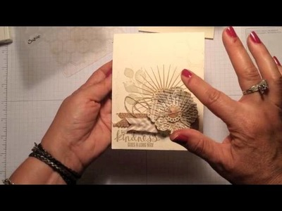 "Stampin' Up! Video Tutorial A ""New"" Background Stamp"" for Your Handmade Cards"