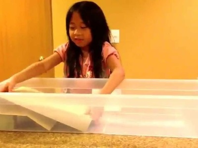 Tsunami project by first grader Bianca