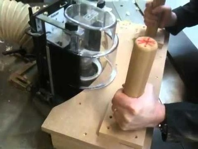 Using a ring fence on a spindle moulder