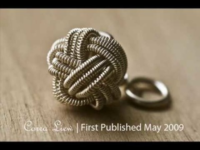 Wired Chinese Knot Jewelry - TreasuryKnot, Pendant