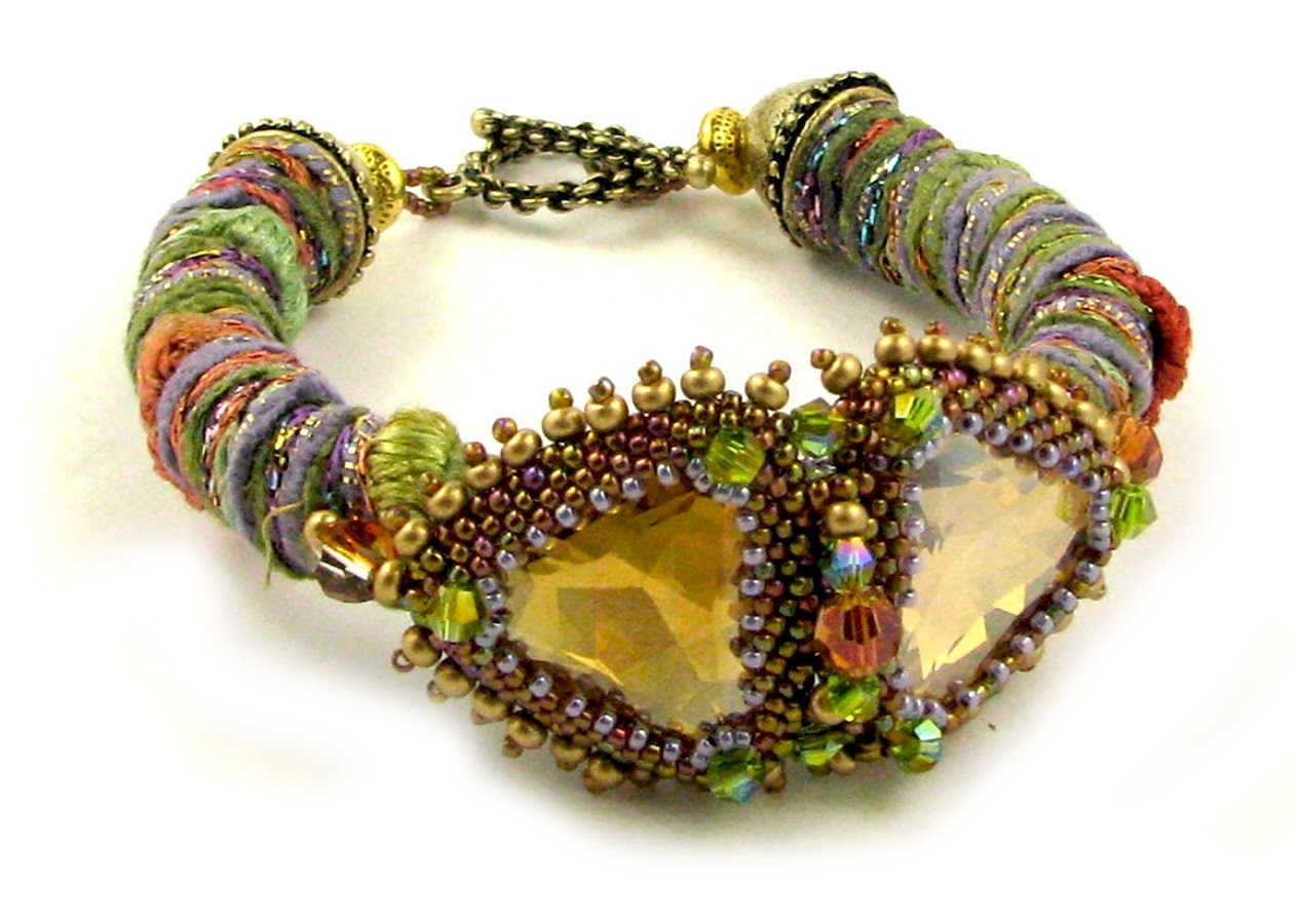 Wrapped Fiber Bracelet or Necklace