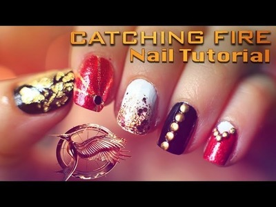 Catching Fire Nail Tutorial with Evelina Barry | The Hunger Games