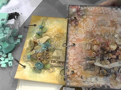 CHA 2012 - Prima Launched Their Prima Press Stamp System and Mixed Media Albums