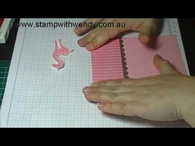 Create A Card Friday - Baby Girl Card