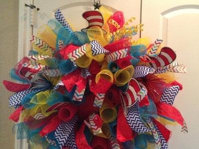 Deco Mesh Spiral Wreath