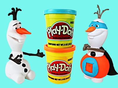 Disney Frozen with Olaf Play Doh Action Superhero and Anna Elsa Kristoff Sven Super Olaf