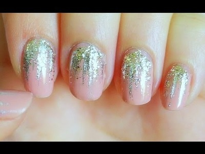 Easy Falling Glitter Nails