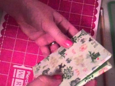 Easy Handmade Coptic Stitch Journal.Notebook Tutorial Part 3