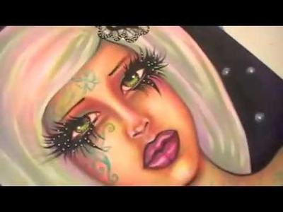 "Flip through my  ""Dreamy ladies""  art book"