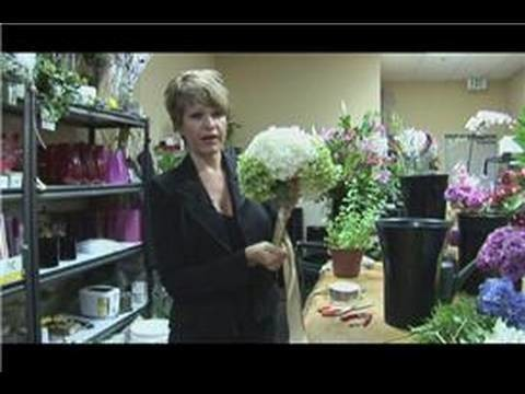 Floral Arrangements : How to Make a Large Hydrangea Bridal Bouquet