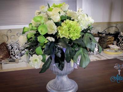 Floristry Tutorial: Christmas Floral Urn Designs