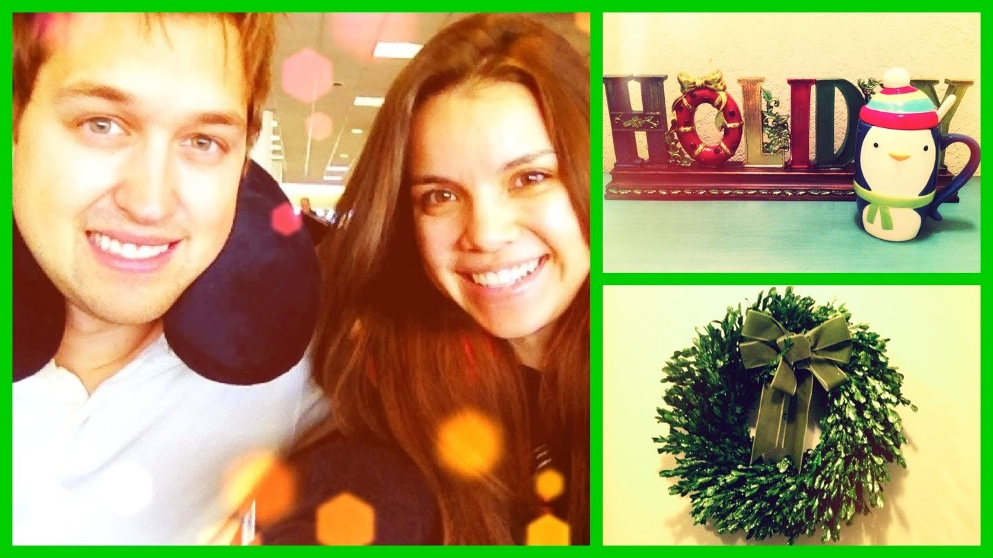 Flying Home + My Christmas Decorations! ❄ Vlogmas 4, 2012