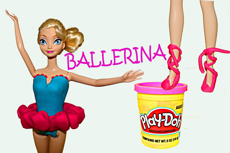 Frozen Elsa Play Doh Ballerina Dress Up PlayDough Ballet Dance Outfit