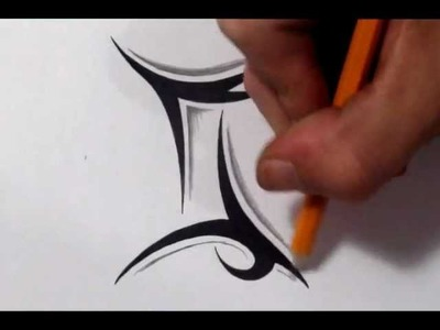 Gemini Tattoos - How To Draw a Simple Tribal Star Sign