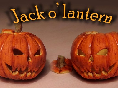 Halloween: Polymer clay Jack o' lantern tutorial