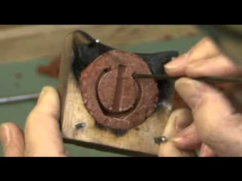 Hand Made Silver Ring Part 1 Making the mould.flv