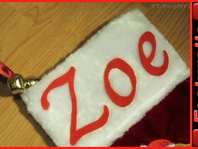 Homemade Personalized Christmas Stockings w. Felt Letter Patterns For Pet Dog or Baby Kids Names