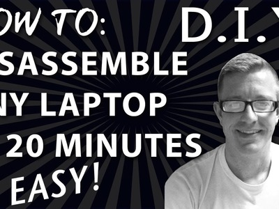How to Disassemble any Laptop in Under 20 minutes - HP DV6000