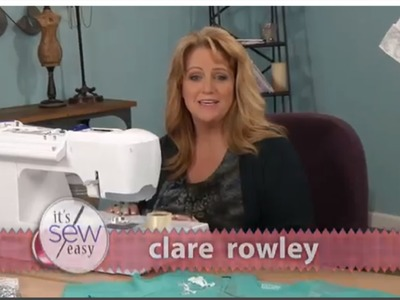 How to embellish a T-shirt with Clare Rowley on ITS SEW EASY TV SHOW 612 3