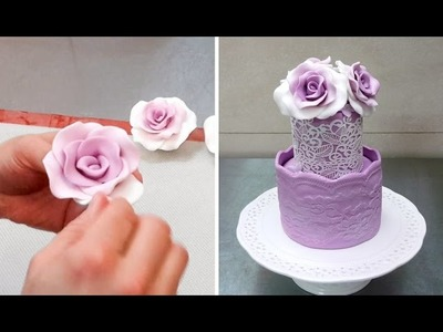 How To Form Fondant. Gumpaste Roses Without Any Tools by CakesStepbyStep