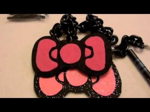 How to Make $4 Hello Kitty Bow Necklace